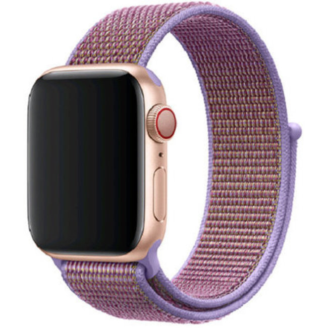 Marque 123watches Apple watch nylon sport loop band - lilas