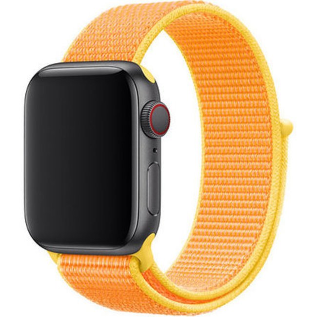 Marque 123watches Apple watch nylon sport loop band - jaune canari
