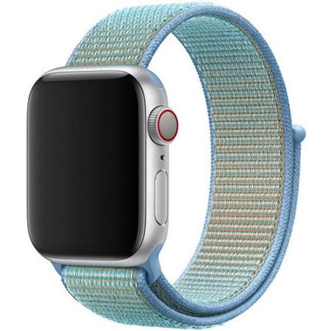 Marque 123watches Apple watch nylon sport loop band - bleuet