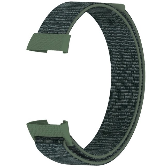 Fitbit charge 3 & 4 nylon sport band - armée verte