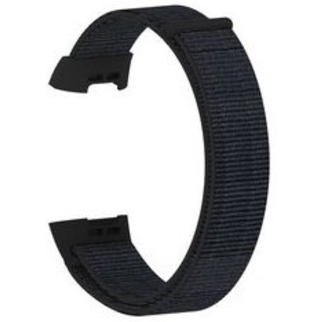 Marque 123watches Fitbit charge 3 & 4 nylon sport band - sable noir