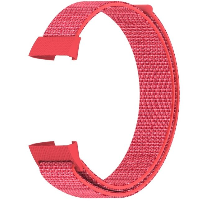 Marque 123watches Fitbit charge 3 & 4 nylon sport band - hibiscus