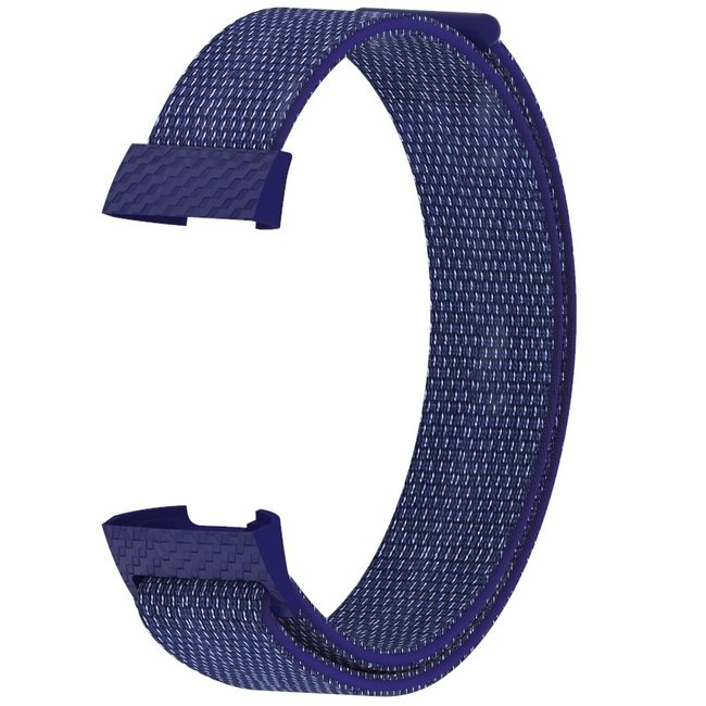 Marque 123watches Fitbit charge 3 & 4 nylon sport band - indigo