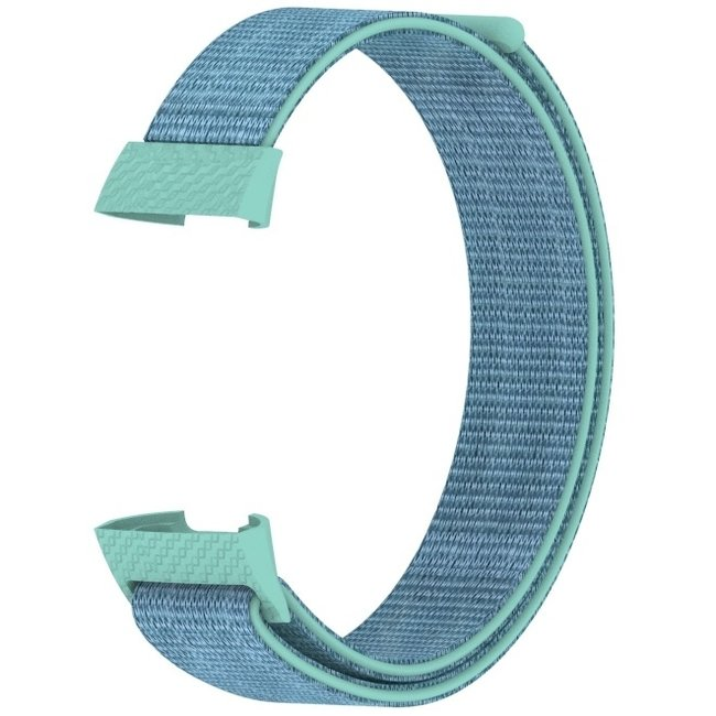 Marque 123watches Fitbit charge 3 & 4 nylon sport band - vert marin