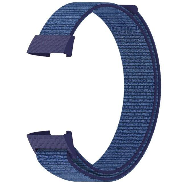 Marque 123watches Fitbit charge 3 & 4 nylon sport band - brouillard de minuit