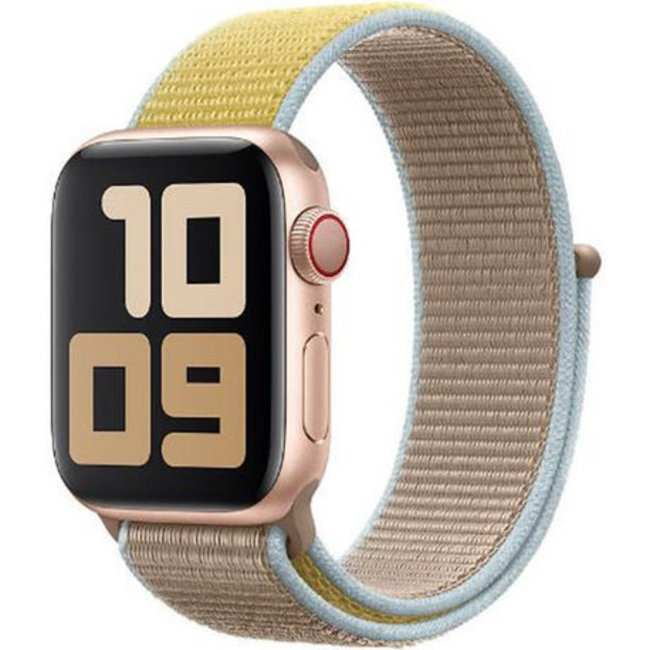Marque 123watches Apple watch nylon sport loop band - chameau