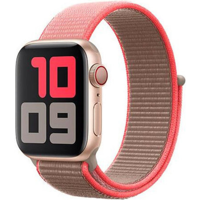 Marque 123watches Apple watch nylon sport loop band - rose néon