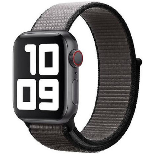 Marque 123watches Apple watch nylon sport loop band - gris ancre
