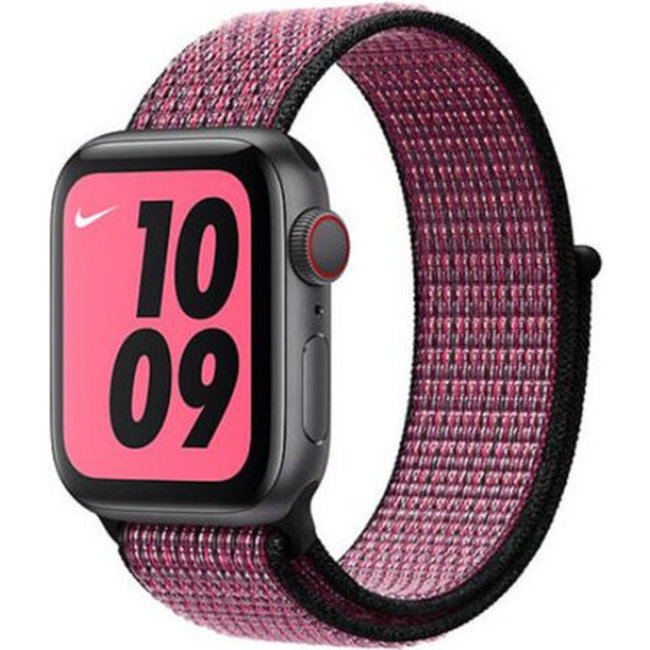 Marque 123watches Apple watch nylon sport loop band - rose souffle véritable baie
