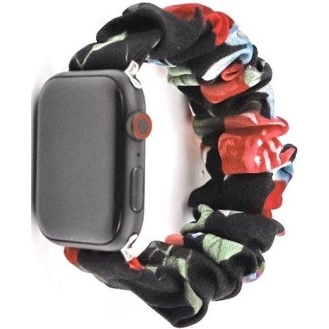 Marque 123watches Apple Watch Scrunchie Band - mélange de roses
