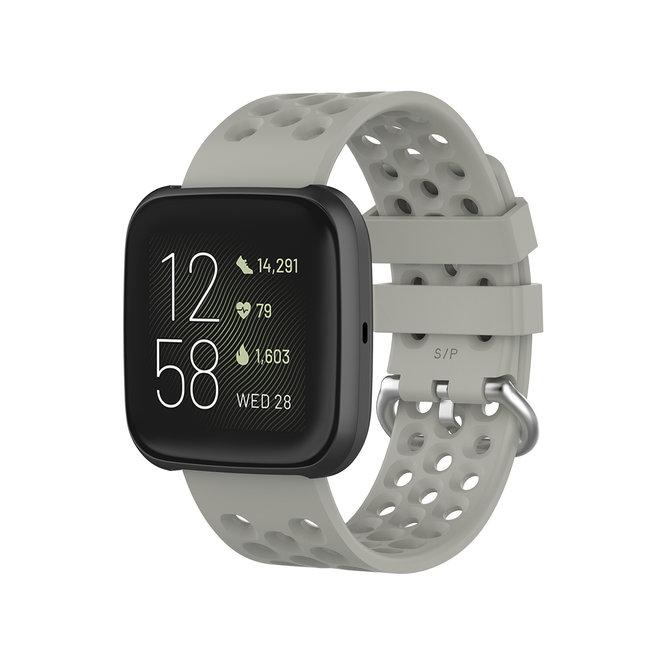 Marque 123watches Fitbit Versa bande de points de sport - gris