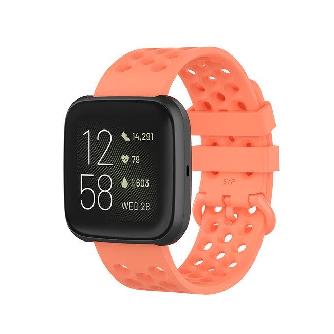 Marque 123watches Fitbit Versa bande de points de sport - orange