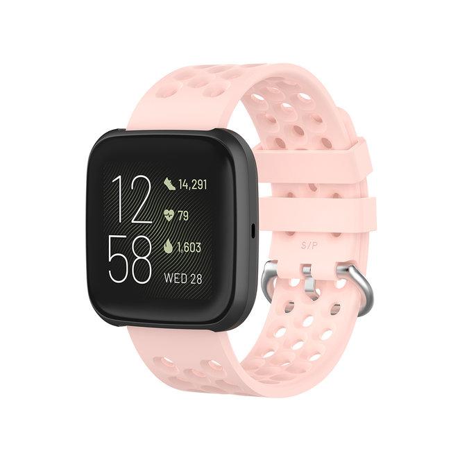 Marque 123watches Fitbit Versa bande de points de sport - rose