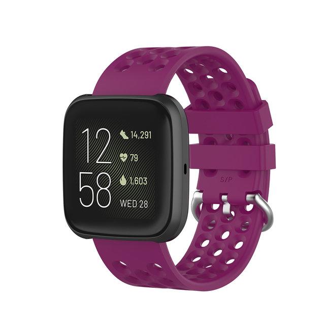 Marque 123watches Fitbit Versa bande de points de sport - violet
