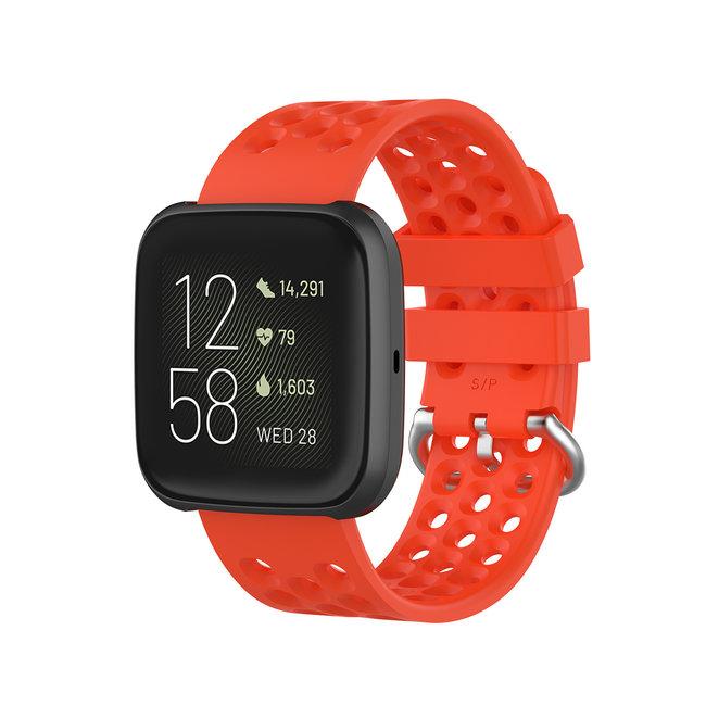 Marque 123watches Fitbit Versa bande de points de sport - rouge