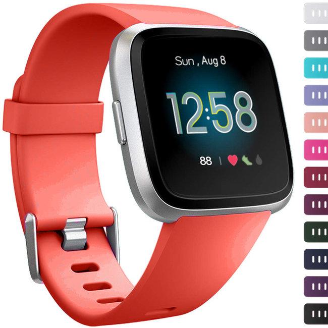 Marque 123watches Fitbit versa sport sangle - rouge-orange