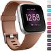 Marque 123watches Fitbit versa sport sangle - marron