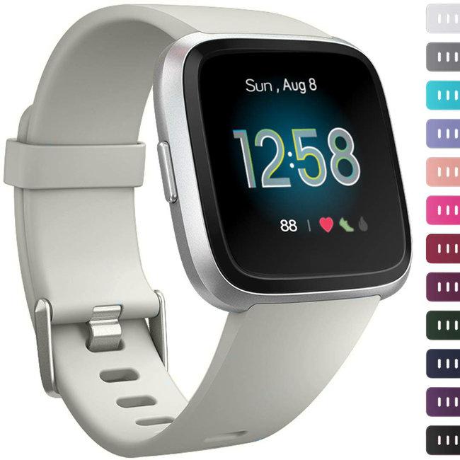 Marque 123watches Fitbit versa sport sangle - gris clair