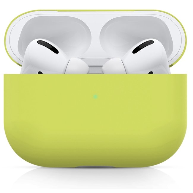 Étui rigide solide Apple AirPods PRO - jaune citron