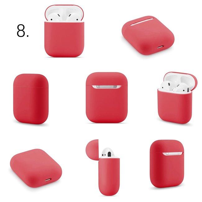 Étui rigide solide Apple AirPods 1 & 2 - rouge