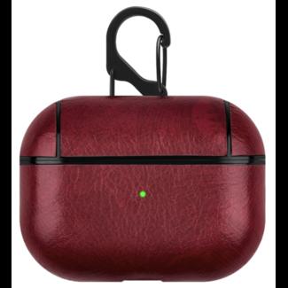 Marque 123watches Étui rigide en cuir Apple AirPods PRO - rouge
