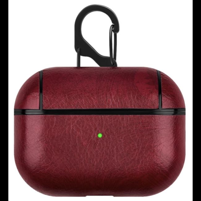 Étui rigide en cuir Apple AirPods PRO - rouge