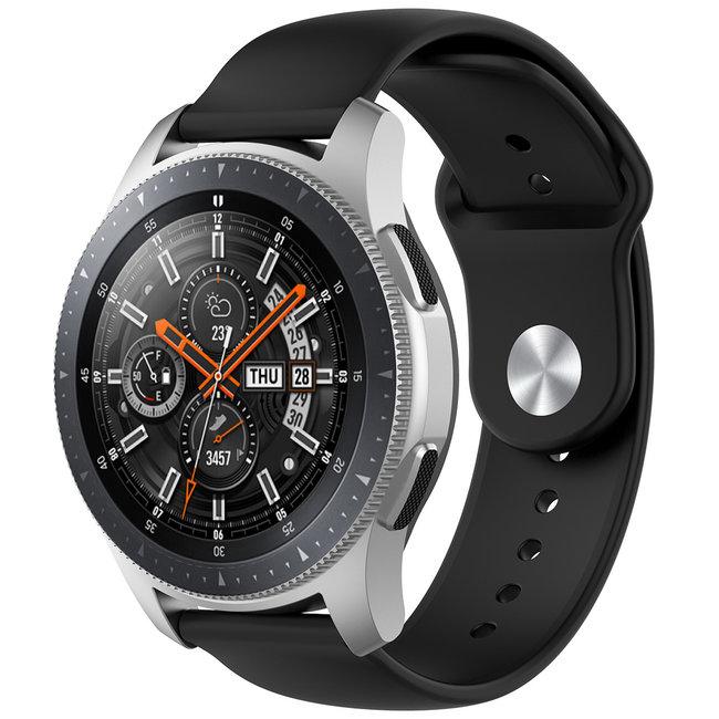 Marque 123watches Bracelet en silicone Garmin Vivoactive / Vivomove - Noir