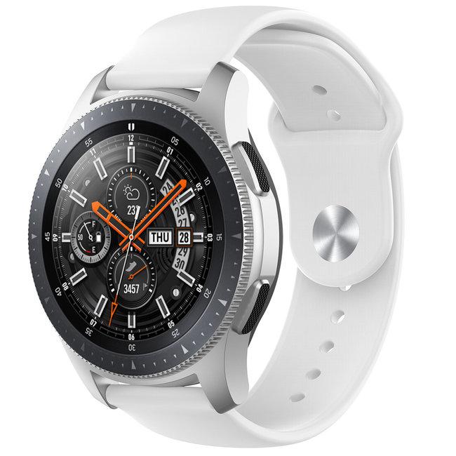 Marque 123watches Bracelet en silicone Garmin Vivoactive / Vivomove - blanc
