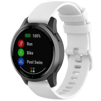 Marque 123watches Bracelet à boucle en silicone Garmin Vivoactive / Vivomove - blanc