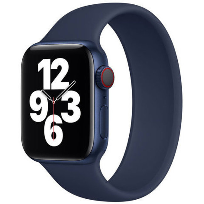 Marque 123watches Apple Watch sport solo loop sangle - bleu