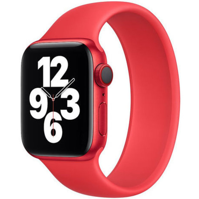 Marque 123watches Apple Watch sport solo loop sangle - rouge