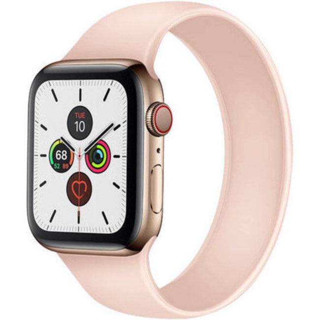 Apple Watch sport solo loop sangle - pink sand