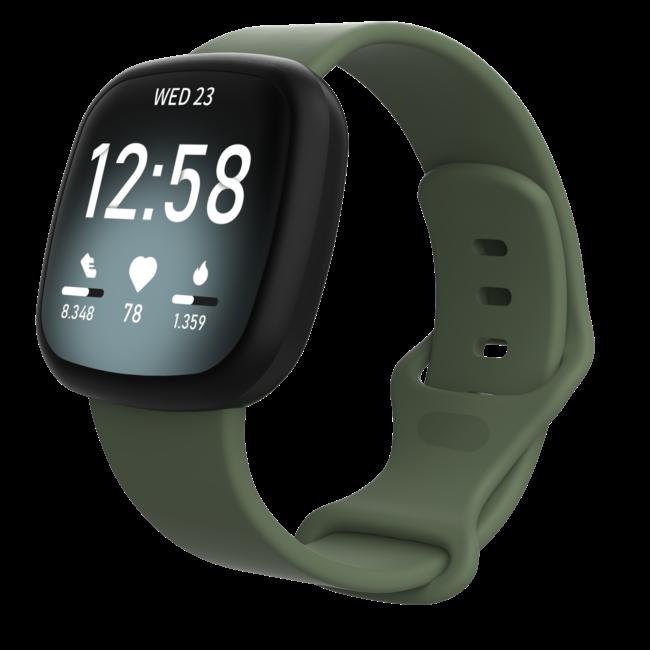 Marque 123watches Fitbit Versa 3 / Sense sport sangle - vert