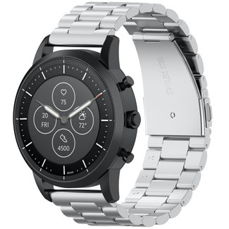 Marque 123watches Bracelet trois maillons en acier perles Samsung Galaxy Watch - argent