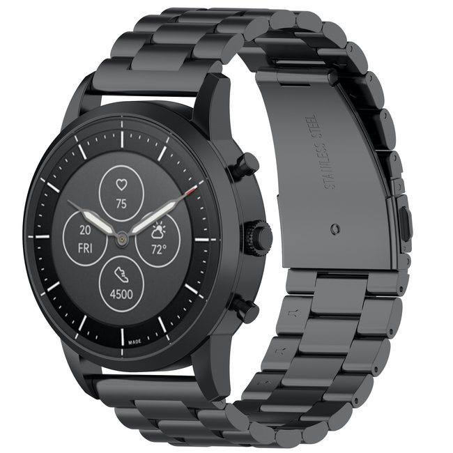 Marque 123watches Bracelet trois maillons en acier perles Samsung Galaxy Watch - noir