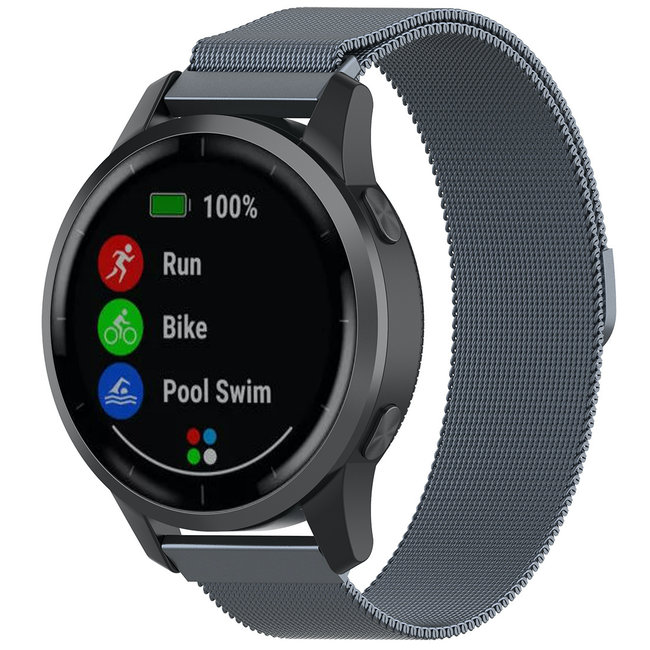 Marque 123watches Bracelet milanais Samsung Galaxy Watch - zone grise