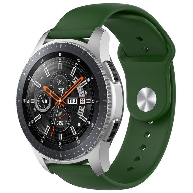 Marque 123watches Bracelet en silicone Samsung Galaxy Watch - armee verte