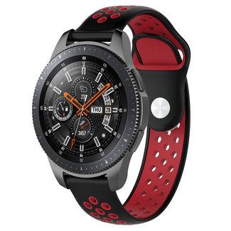 Marque 123watches Samsung Galaxy Watch double bande en silicone - noir rouge