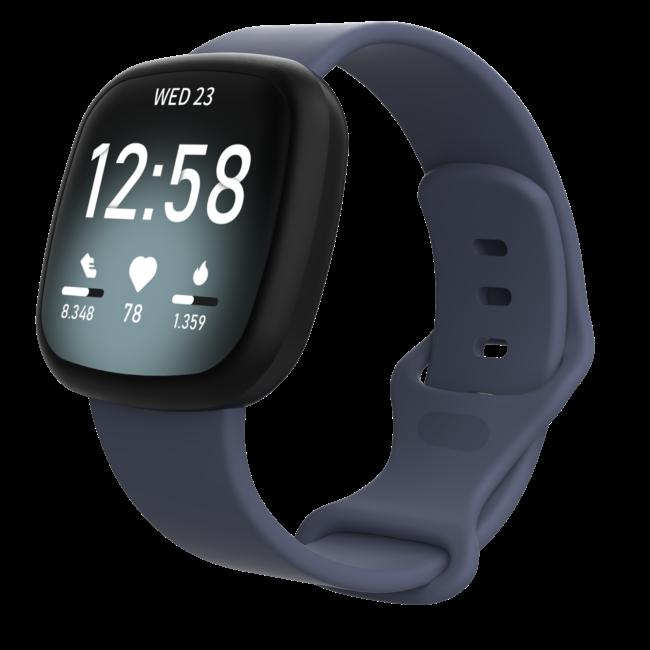 Marque 123watches Fitbit Versa 3 / Sense sport sangle - rock cyan