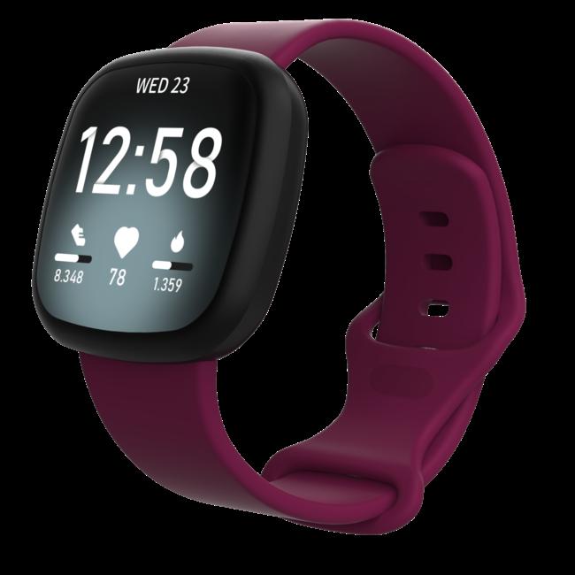 Fitbit Versa 3 / Sense sport sangle - vin rouge