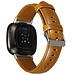 Marque 123watches Fitbit Versa 3 / Sense bracelet en cuir véritable  - marron clair
