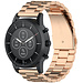 Marque 123watches Bracelet trois maillons en acier perles Huawei watch GT - or rose