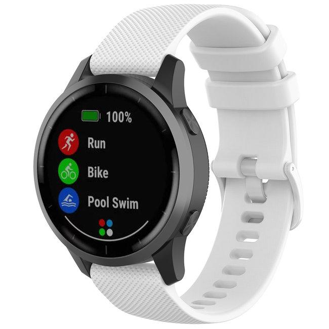 Marque 123watches Bracelet à boucle en silicone Huawei watch GT - blanc