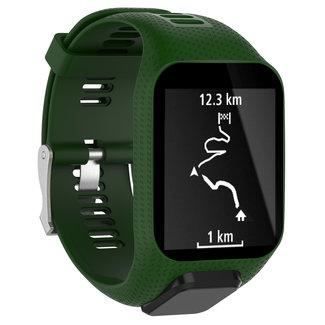 Marque 123watches Bracelet en silicone TomTom Runner / Spark / Adventure - armée verte