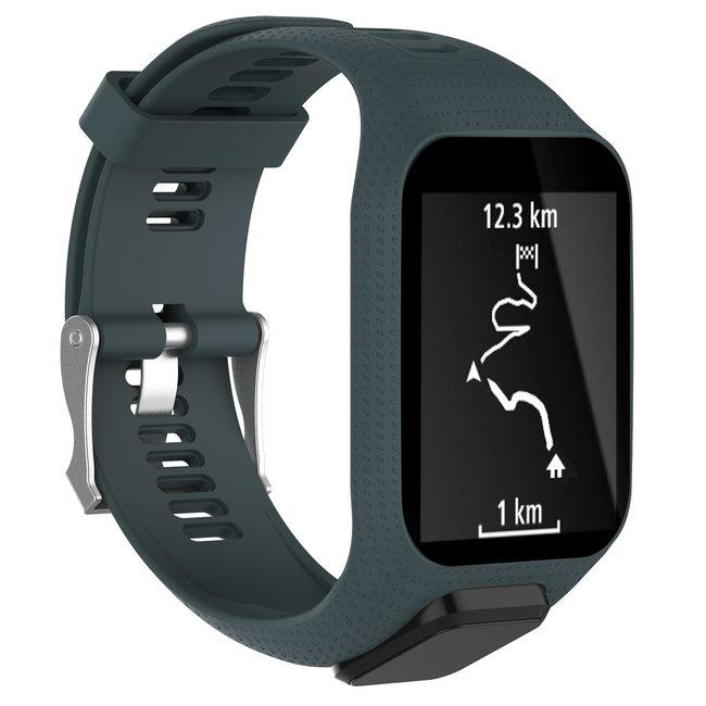 Marque 123watches Bracelet en silicone TomTom Runner / Spark / Adventure - ardoise