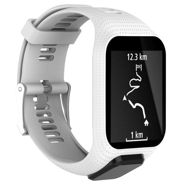 Marque 123watches Bracelet en silicone TomTom Runner / Spark / Adventure - blanc