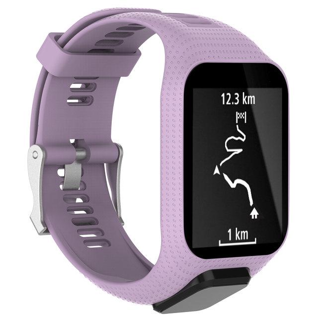 Marque 123watches Bracelet en silicone TomTom Runner / Spark / Adventure - violet clair