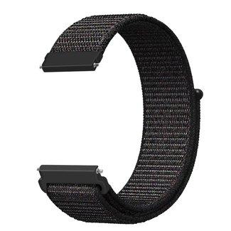 Marque 123watches Bracelet Sport en Nylon pour Huawei watch GT - mélange noir