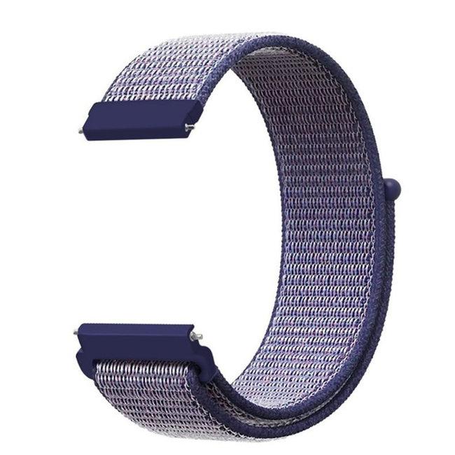 Marque 123watches Bracelet Sport en Nylon pour Garmin Vivoactive / Vivomove - Bleu Nuit
