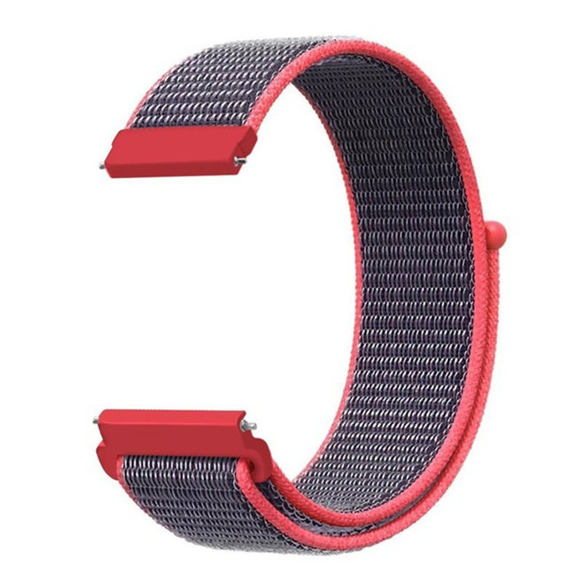 Marque 123watches Bracelet Sport en Nylon pour Garmin Vivoactive / Vivomove - rose électrique